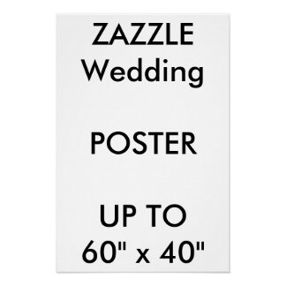 "Wedding Custom 16"" x 24"" Poster THICK Portrait"