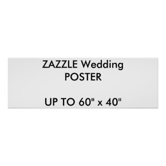 "Wedding Custom 36"" x 12"" Poster MATTE Landscape"