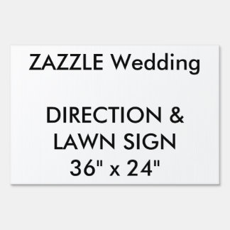 "Wedding Custom Direction & Lawn Sign 36"" x 24"""