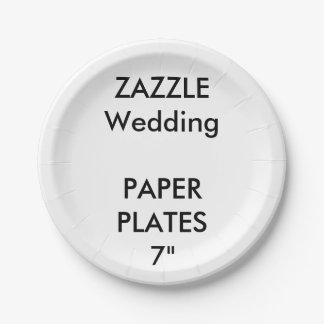 """Wedding Custom Disposable Party Paper Plates 7"""" 7 Inch Paper Plate"""