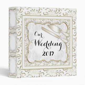 """WEDDING CUSTOM LOVE WHITE Touch™ EZD™ Ring Av 1"""" Vinyl Binders"""