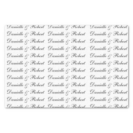 Wedding Custom Names Monogram Tissue Paper