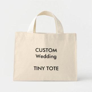 Wedding Custom Small Cotton Tote Bag NATURAL Color