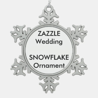 Wedding Custom Snowflake Decoration Ornament