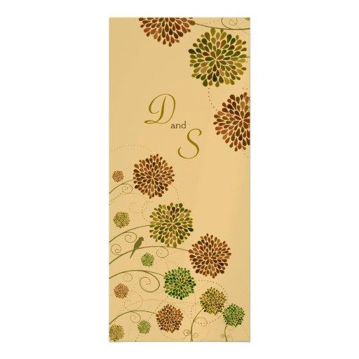 Wedding Dahlia Garden Monogram Invitation