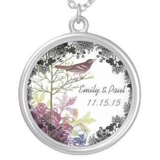 Wedding Date Bride & Groom Anniversary Necklace