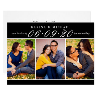 Wedding Date in Script | Multi-Photo Card