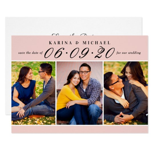 Wedding Date in Script | Multi-Photo Card