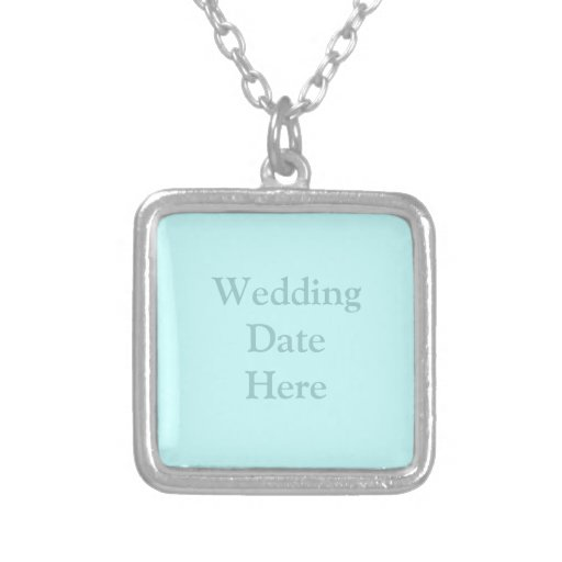 Wedding Date or Photo Here Personalized Necklace