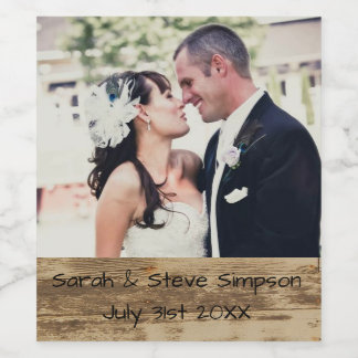Wedding Date Picture Wine Labels