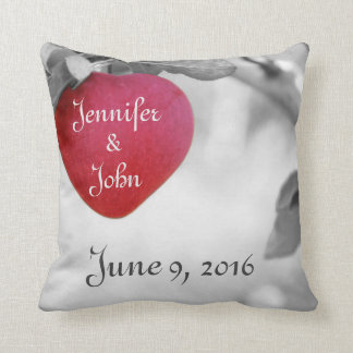 Wedding Date Pillow, Valentines Day Pillow