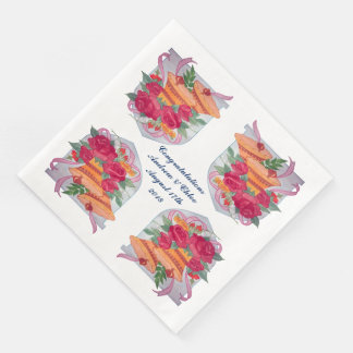 Wedding day Bells Paper Napkins
