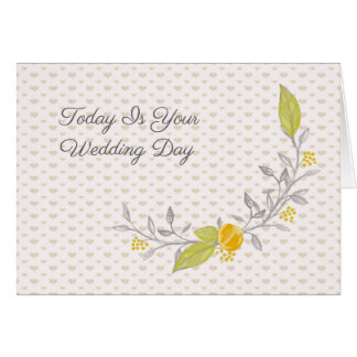 Wedding Day Card for Bride and Groom
