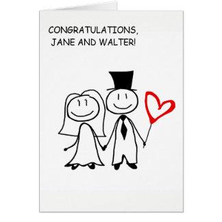 Wedding Day Congratulations Custom Card
