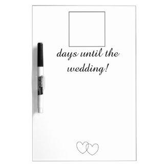 """Wedding Day Countdown"" Dry Erase Board"