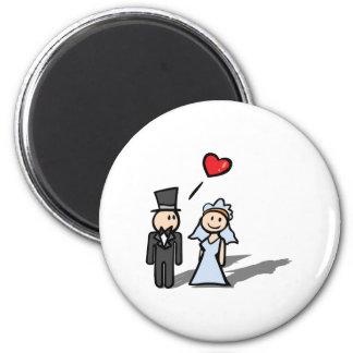 """""""Wedding Day"""" couple design 2 Inch Round Magnet"""