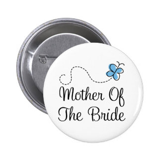 Wedding Day Mother Of  The Bride Blue Button