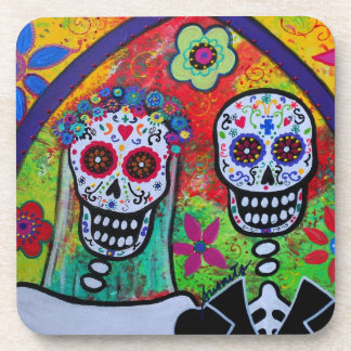 Wedding Day of the Dead Coasters