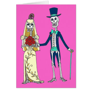 Wedding Day of the Dead Greeting Card
