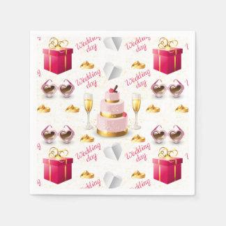 Wedding Day Pattern Paper Napkin