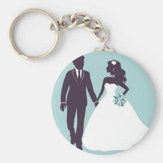 Wedding day porte-clé rond