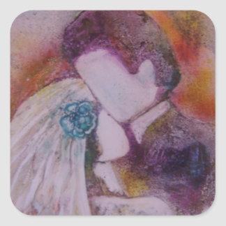 """Wedding Day"" Square Sticker"