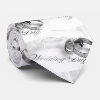 ***WEDDING DAY*** TIE *WITH WEDDING BANDS**