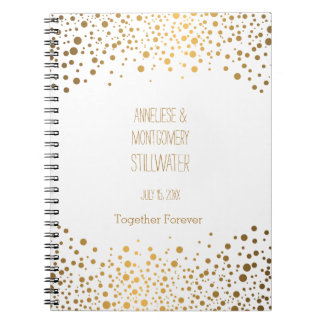 Wedding Day Trendy Gold Dots Note Book