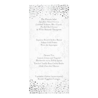 Wedding Day Trendy Silver Dots Rack Card