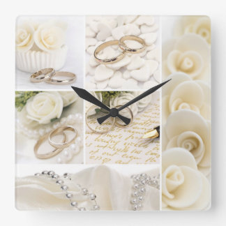wedding decoration square wall clock