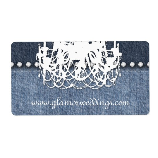 Wedding Denim Chandelier Label Jeans Jewellery