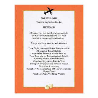 Wedding Destinations Abroad Guest Information Custom Letterhead