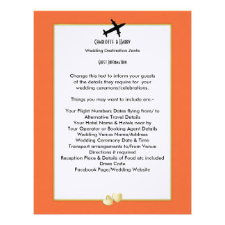 Wedding Destinations Abroad Guest Information Letterhead