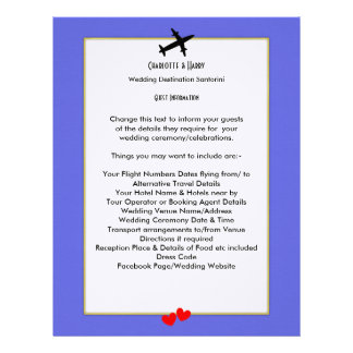 Wedding Destinations Abroad Guest Information Letterhead Design