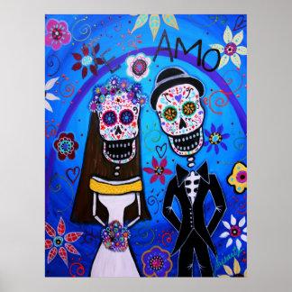 Wedding Dia de los Muertos Couple Poster