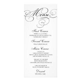 Wedding Dinner Menu Card Script Calligraphy Full Colour Rack Card