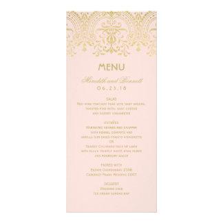 Wedding Dinner Menu Cards   Gold Vintage Glam Rack Card