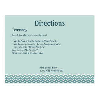 Wedding Directions Postcard