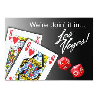 "Wedding - Doing it in Las Vegas black 5"" X 7"" Invitation Card"