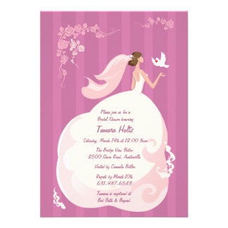 Wedding Dove Bridal Shower Invitation