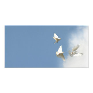 Wedding Doves Personalized Photo Card