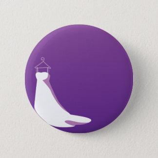Wedding Dress: Beautify in purple 2 Inch Round Button
