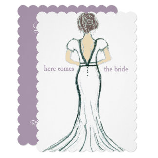 Wedding Dress Bridal Shower Invite