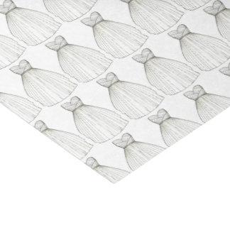 Wedding Dress Gown Bride Bridal Shower Gift Tissue Tissue Paper