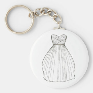 Wedding Dress Gown Bride Bridal Shower Keychain