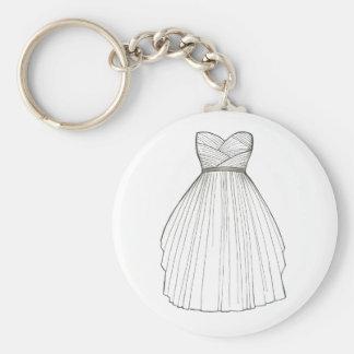 Wedding Dress Gown Bride Bridal Shower Keychain