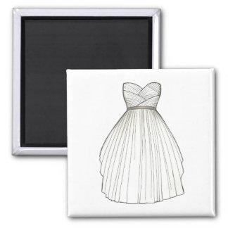 Wedding Dress Gown Bride Bridal Shower Magnet