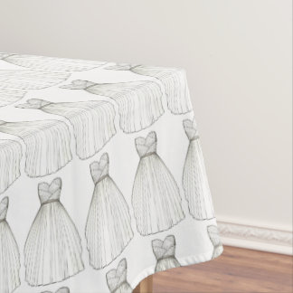 Wedding Dress Gown Bride Bridal Shower Tablecloth