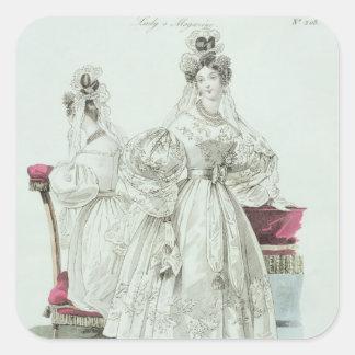 Wedding dress, 'Le Follet Courrier Salons Sticker