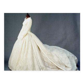 Wedding dress of Katharine Worsley Postcard